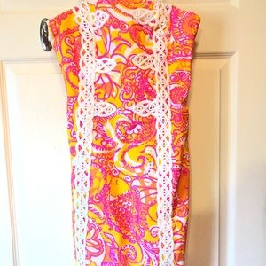 Lilly Pulitzer Strapless Dress in Sea and be Seen